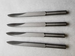 Set of 4 1/4in Steel Cape Chisels