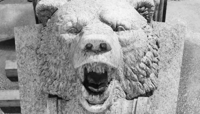 A bear in stone