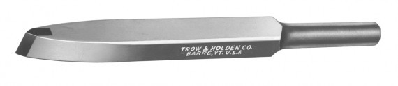 A carbide roughing chisel used for material removal with or without a pneumatic hammer
