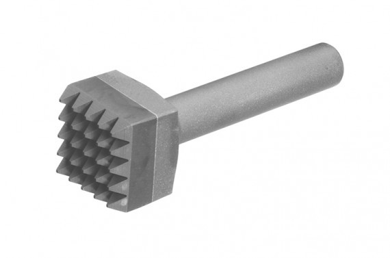 A carbide tipped busing chisel with twenty five points for material removal