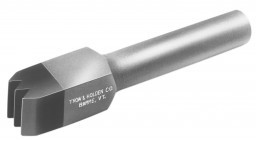 A carbide three blade bushing chisel used for stone shaping and finishing