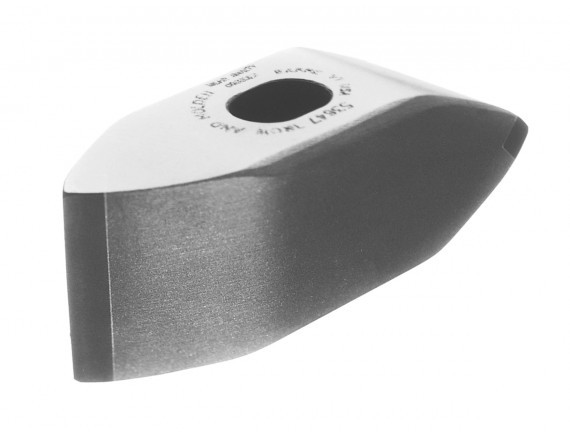 Carbide tipped double blade masons hammer with blades on each side of the hammer