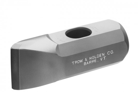 A carbide stone buster hammer used for stone shaping