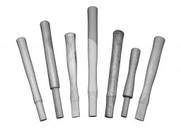 A set of fiberglass replacement hammer handles for trow and holden stone hammers