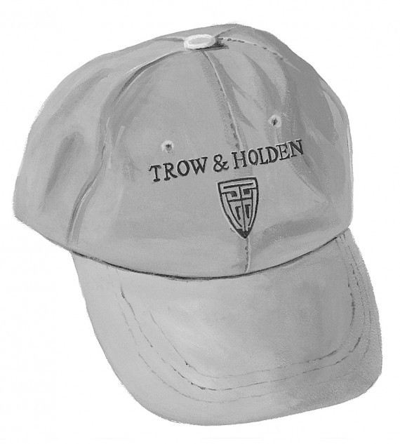 A gray trow and holden branded baseball cap