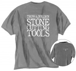 A gray trow and holden branded t shirt