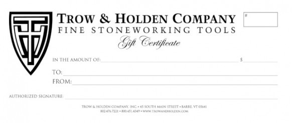 picture of gift certificate redeemable for masonr tools