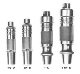 A set of type d pneumatic hammers used for shaping hard stone