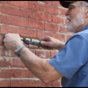 Repointing with Pneumatic Mortar Removal Set
